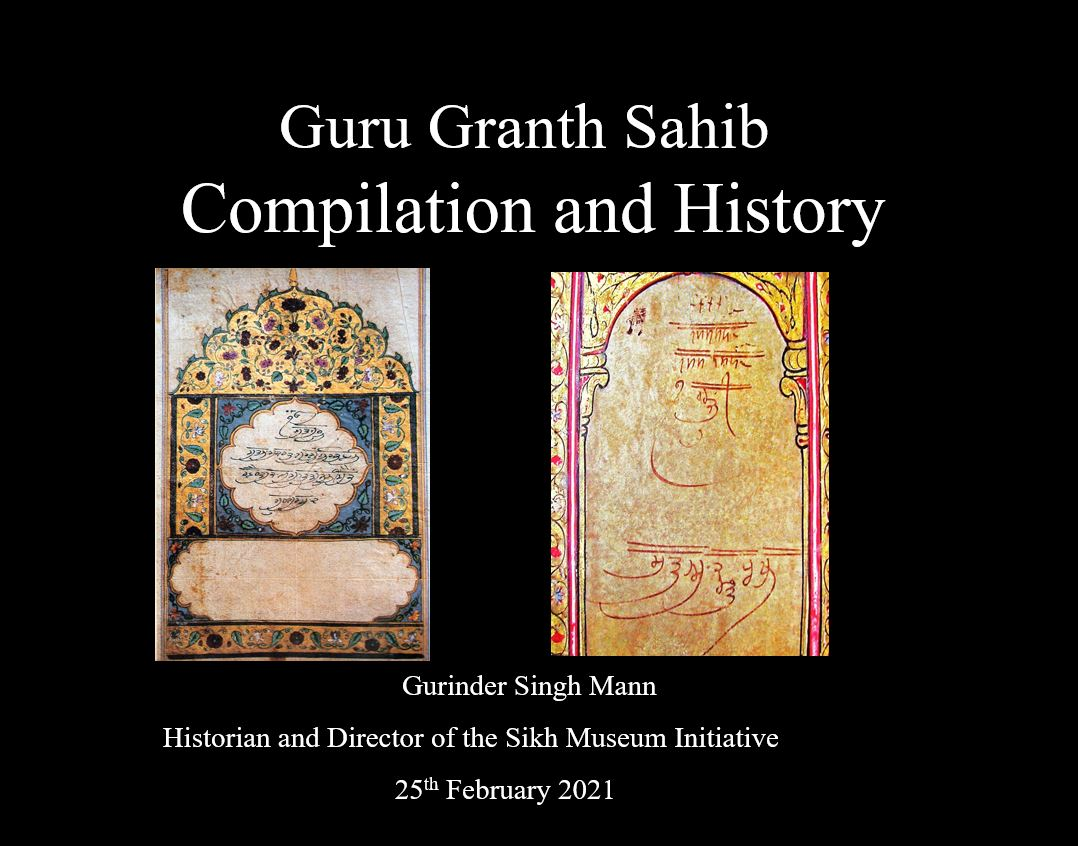 Formation of the Sikh and Christian Scriptures
